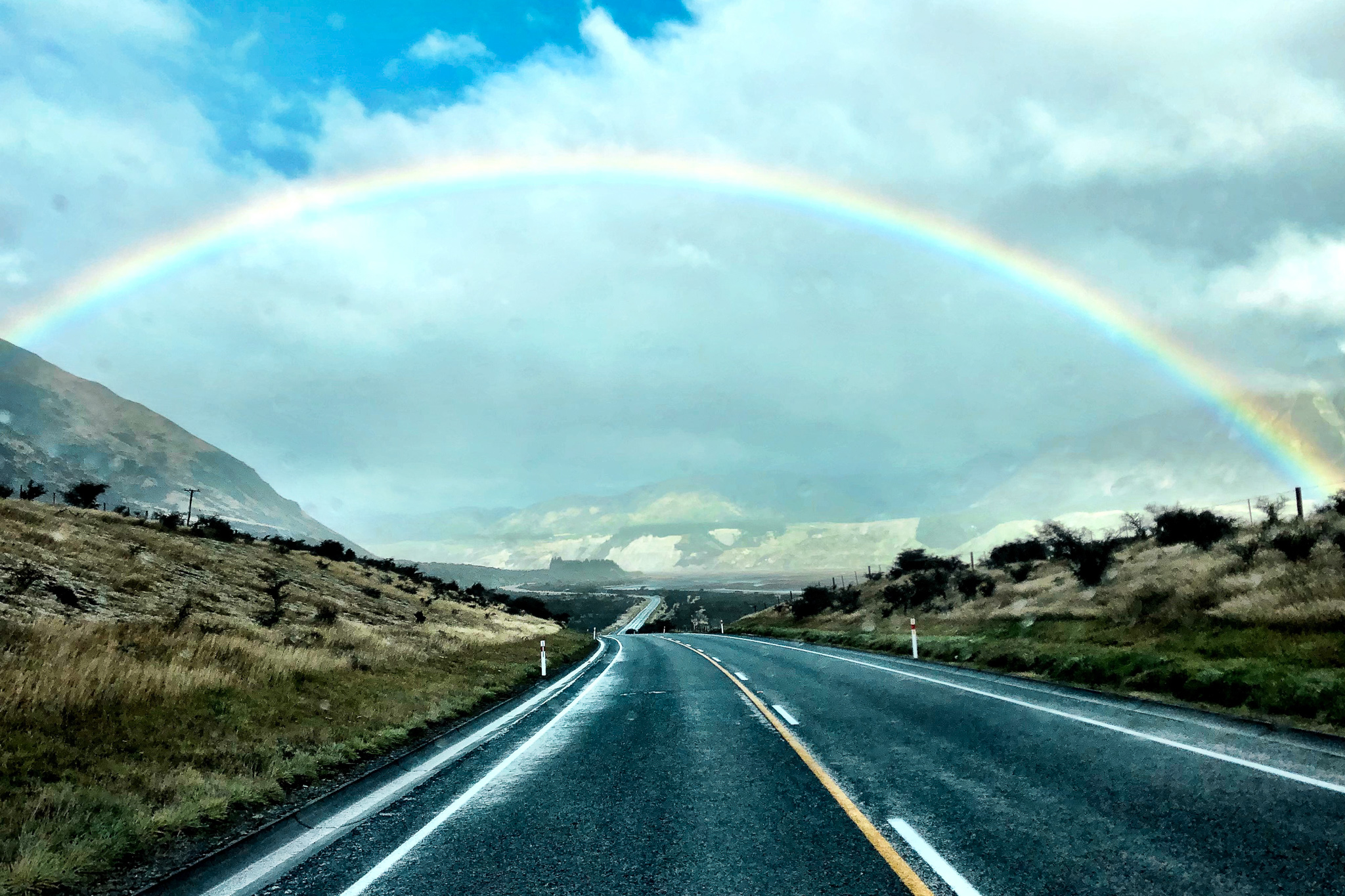 "Truly the land of rainbows! New Zealand was by far THE MOST beautiful and serene places that I have ever visited on this planet! Read my beautiful blog post titled ""New Zealand: The Land of Rainbows"""